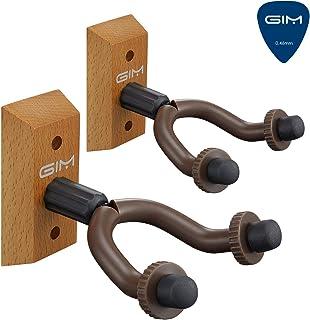 Pantalla SKL 2unidades gancho para montaje en pared de guitarra–para guitarras, bajos, Banjo, etc., Upgrade Version-Wooden