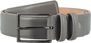 Nuvola Pelle Cintura da Uomo in Pelle Morbida made in Italy Elegante H 34mm con Fibbia in Metallo Taupe da 125 cm