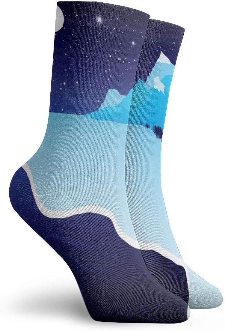 Unisex Casual Night Socks Moisture Wicking Athletic Crew Socks