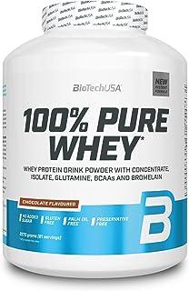 BioTech USA 100% Pure Whey – Zuiver Wei Mengsel - Wei-Eiwit Concentraat en -Isolaat - Supplement voor Atleten - Poeder - S...