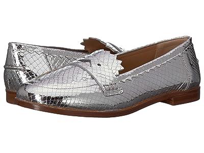 Emporio Armani Printed Metal Python Loafer (Silver) Women