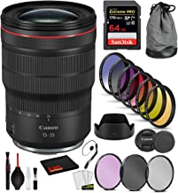 $2299 » Canon RF 15-35mm f/2.8L is USM Lens (3682C002) with Professional Bundle Package Deal Kit Includes: 9PC Filter Kit, Sandisk Extreme Pro 64gb + More