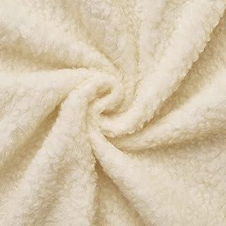 (9,99€/m) peau d'agneau - fourrure - Tissu au mètre (ecru)