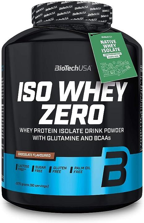 Proteine alta qualità iso whey zero- biotechusa - con l`aggiunta di l-glutammina e bcaa, 2.27 kg, cioccolato BIO192