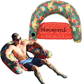 Measures 71 L X 27 W X 6 H Measures 71 L X 27 W X 6 H Margaritaville Landshark Pool Float With Built-In Pillow For Comfort Recommended For Ages 13 Years /& Up