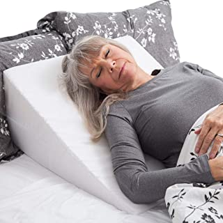 DMI Wedge Pillow to Support and Elevate Neck, Head and Back for Acid Reflux or Feet and..
