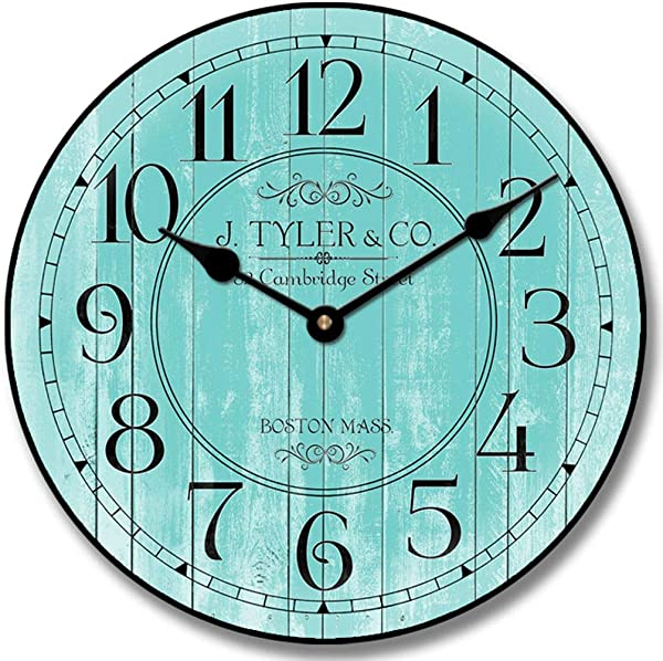 Harbor Turquoise Wall Clock Available In 8 Sizes Most Sizes Ship The Next Business Day Whisper Quiet