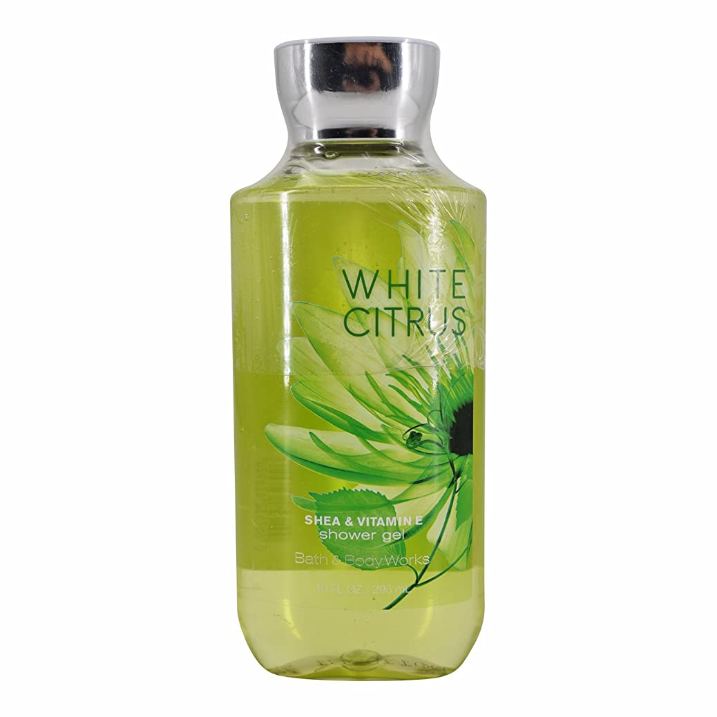 効能健康的微視的バス&ボディワークス ホワイトシトラス シャワージェル White Citrus Shea & Vitamin-E Shower Gel