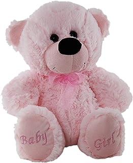 Elka Australia 76201-30BG Jelly Teddy Bear Soft Plush Toy, Pink, 30 Centimeters