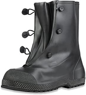 "Honeywell Safety Servus Superfit 12"" PVC Dual Compound Men's Overboots, Black (11924-Bagged)"