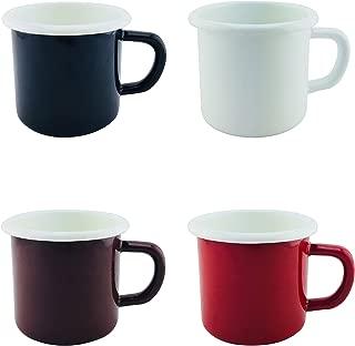 Enamel Mugs Cups 12.8oz Rainbow Colors Set of 4