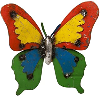 Upcycled Emporium Cheerful Ulysses Butterfly for Home, Garden, and Outdoor Patio Décor, Handcrafted from Recycled Metals