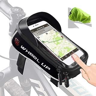 Tricodale Bike Frame Cell Phone Holder Mount Waterproof Top Tube Triathlon MTB Road Bicycle Bag Full-Size Rain Cover Touch-ID Unlock iPhone 7/8 Plus Huawei Samsung Galaxy Moto G6