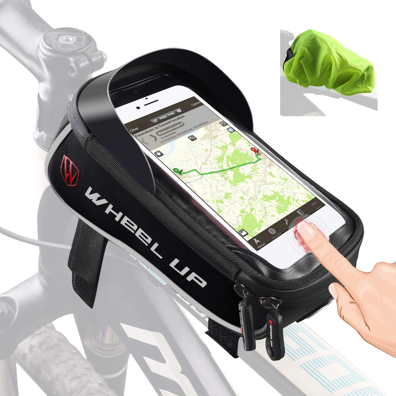 Tricodale Porta Celular Impermeable Estructura Bolsa de Transporte Bolsa Bicicleta de Carreras/Bicicleta de Montaña–con Lluvia y desbloqueo Touch-ID para Smartphone Samsung iPhone: Amazon.es: Deportes y aire libre