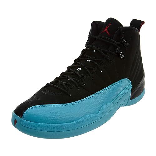 c703594ecb7bf Nike Mens Air Jordan 12 Retro Gamma Blue Black Gym Red-Gamma Blue Leather