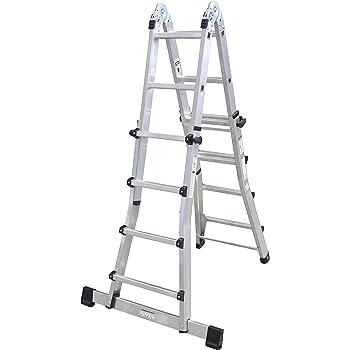 Skalar TEIDE Escalera telescópica, Aluminio o aluminio negro, 4x4 peldaños: Amazon.es: Bricolaje y herramientas