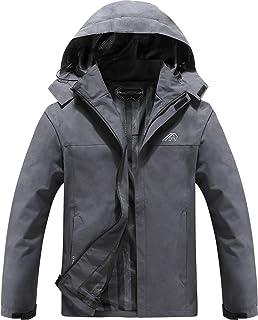Men's Lightweight Waterproof Hooded Rain Jacket Outdoor...