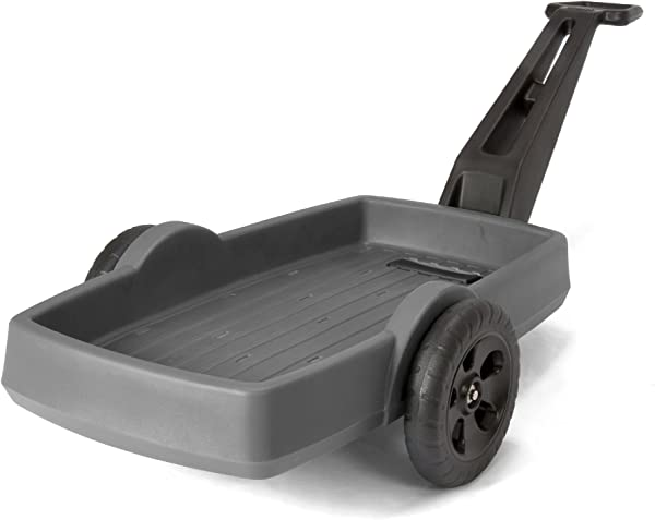Simplay3 Easy Haul Flatbed Cart Heavy Duty Plastic 2 Wheel Home Work Cart 42 In X 20 In Bed Gray