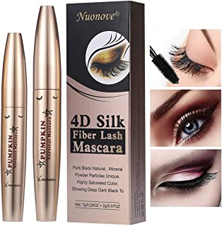 4D Silk Fiber Lash Mascara, 4D Mascara, Mascara Fiber Lashes, Extra Long Lash Mascara, Long-Lasting, Waterproof & Smudge-P...