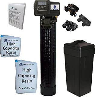 """AFWFilters 5600SXT Water Softener, 48k, Black, Bypass with 3/4"""" Connection"""