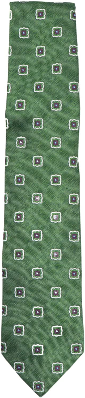 Bigi Cravatte-Milano Men's Square Flower Silk Necktie