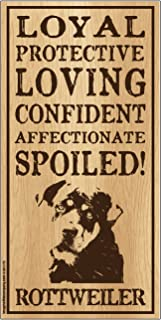 "Imagine This Rottweiler""Spoiled!"" Wood Sign"