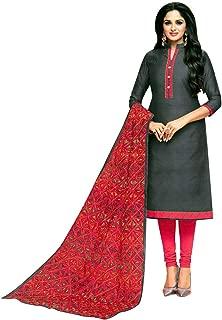 Embroidered Dupatta Silk Salwar Kameez Womens Ready to Wear Indian Dress