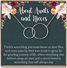 Aunt-Niece Necklace: Aunt-Niece Gift, Aunt-Niece Jewelry, Aunt-Niece Quotes, Aunt Necklace, 2 Interlocking Circles