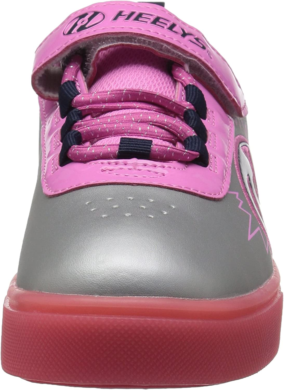 Heelys X2 Plus Lighted Shoes UK 3 // EU 33 Pink Silver Purple