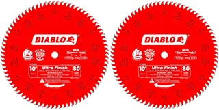 Freud D1080X Diablo 10-Inch 80-tooth ATB Finish Saw Blade with 5/8-Inch Arbor and..