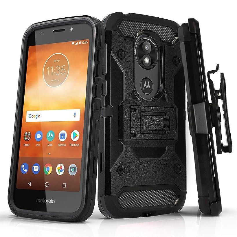 Phone Case for [Motorola Moto E5 Play/Moto E5 Cruise], [Tank Series][Black] Shockproof Covers with [Kickstand] & [Swivel Belt Clip Holster] for Motorola Moto E5 Play & Motorola Moto E5 Cruise