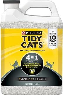 Purina Tidy Cats Clumping Cat Litter, 4-in-1 Strength Multi Cat Litter - (2) 20 lb. Jugs