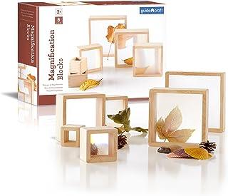 Guidecraft Magnification Blocks Kids Learning & Educational Toys, Stacking Blocks