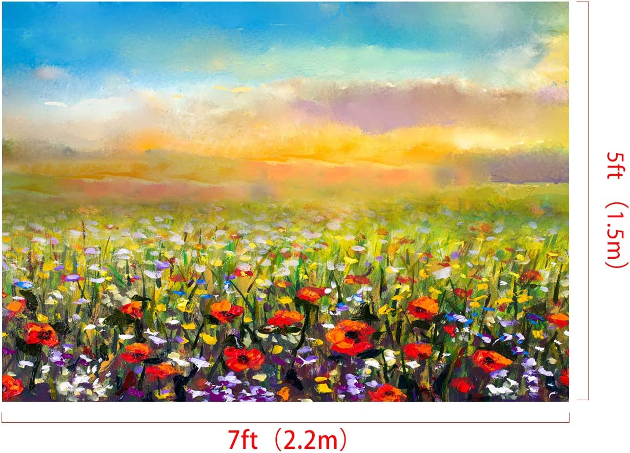 Kate 8x8ft Floral Photography Backdrop Spring Portrait Background Oil Painting Texture Photo Backdrop