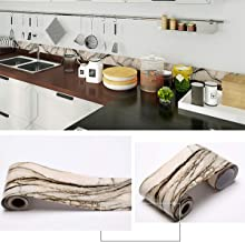 Penck Wallpaper Border Roll PVC Self-adhesive Stick Wall Borders Waterproof Skirting Wall Waist Line Border Sticker for Covering Kitchen Bathroom Bedroom Tiles Decor Sticker, Easy to Apply, 12cm x 10m