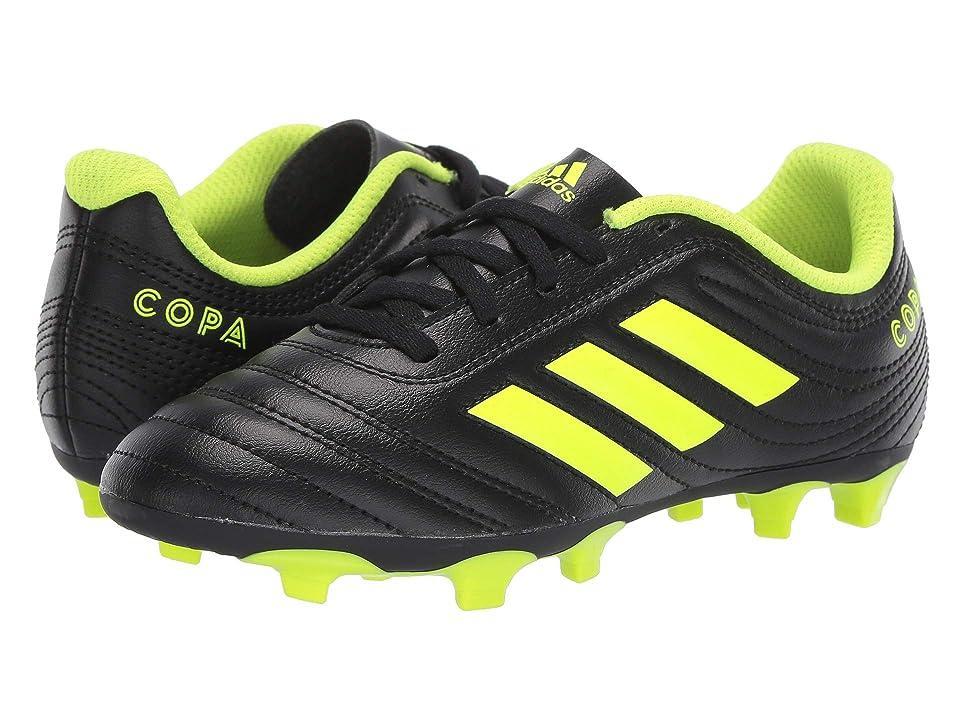 adidas Kids Copa 19.4 FG Soccer (Little Kid/Big Kid) (Black/Solar Yellow/Black) Kids Shoes