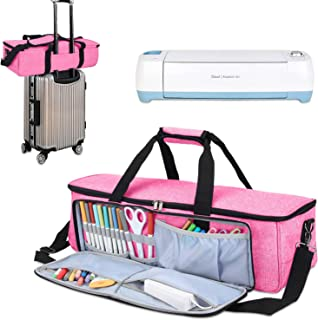 Luxja Carrying Bag Compatible with Cricut Die-Cutting Machine and Supplies, Tote Bag Compatible with Cricut Explore Air (Air2) and Maker (Bag Only, Patent Pending), Pink