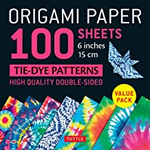 Origami Paper 100 sheets Tie-Dye Patterns 6 inch (15 cm): High-Quality Origami Sheets Printed with 8 Different Designs (In...