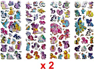My little Pony Stickers︙200 Puffy Stickers︙8 Sheets Party Favors︙Kids' Favorite 3D Cute Stickers and Teacher Stickers︙ including Rainbow Dash, Twilight Sparkle, Pinkie Pie, Rarity, Fluttershy and More