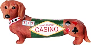 Pacific Giftware Adorable Doxies Collection Casino Long Shot Dachshund Hot Diggity Doxies Collectible Figurine