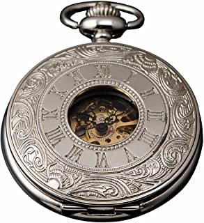 Carrie Hughes Steampunk Skeleton Mechanical Pocket Watch