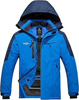 Wantdo Men`s Mountain Ski Fleece Jacket Hooded Windproof Rain Coat Outdoors
