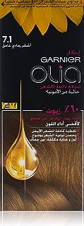 صبغة الشعر الدائمة اوليا امونيا من غارنييه تحتوي على 60% زيوت - 7.1،