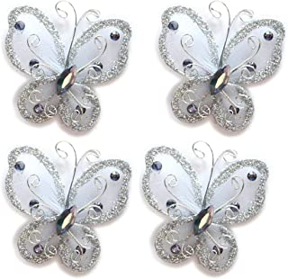 40-Pack White Organza Butterflies 2