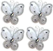 white nylon butterflies