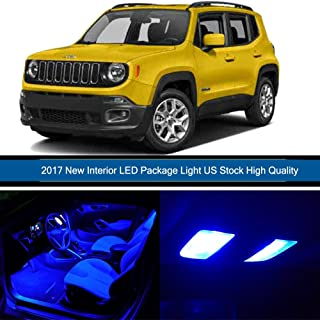 cciyu 13 Pack Blue LED Bulb Replacement fit for 2015-2017 Jeep RENEGADE LED Interior Lights Accessories Replacement Package Kit - coolthings.us