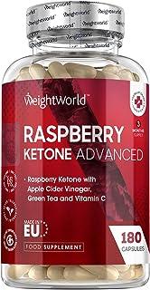 Zaawansowane Raspberry Ketone - 1600mg równoważnik - 180 kapsułek (3 miesiące dostaw) - Strong Diet Capsules With Apple Ci...