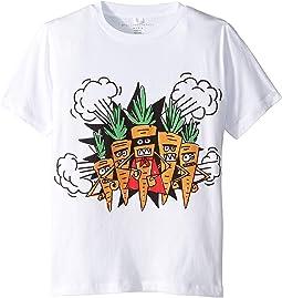 Veg Gang Carrot Short Sleeve Tee Early (Toddler/Little Kids/Big Kids)
