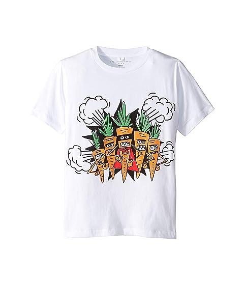 Stella McCartney Kids Veg Gang Carrot Short Sleeve Tee Early (Toddler/Little Kids/Big Kids)