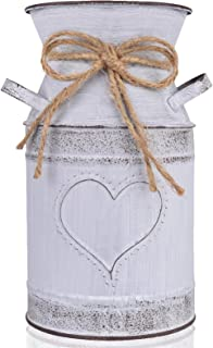 """HIDERLYS 7.5"""" High Decorative Vase with Unique Heart-Shaped and Rope Design,.."""